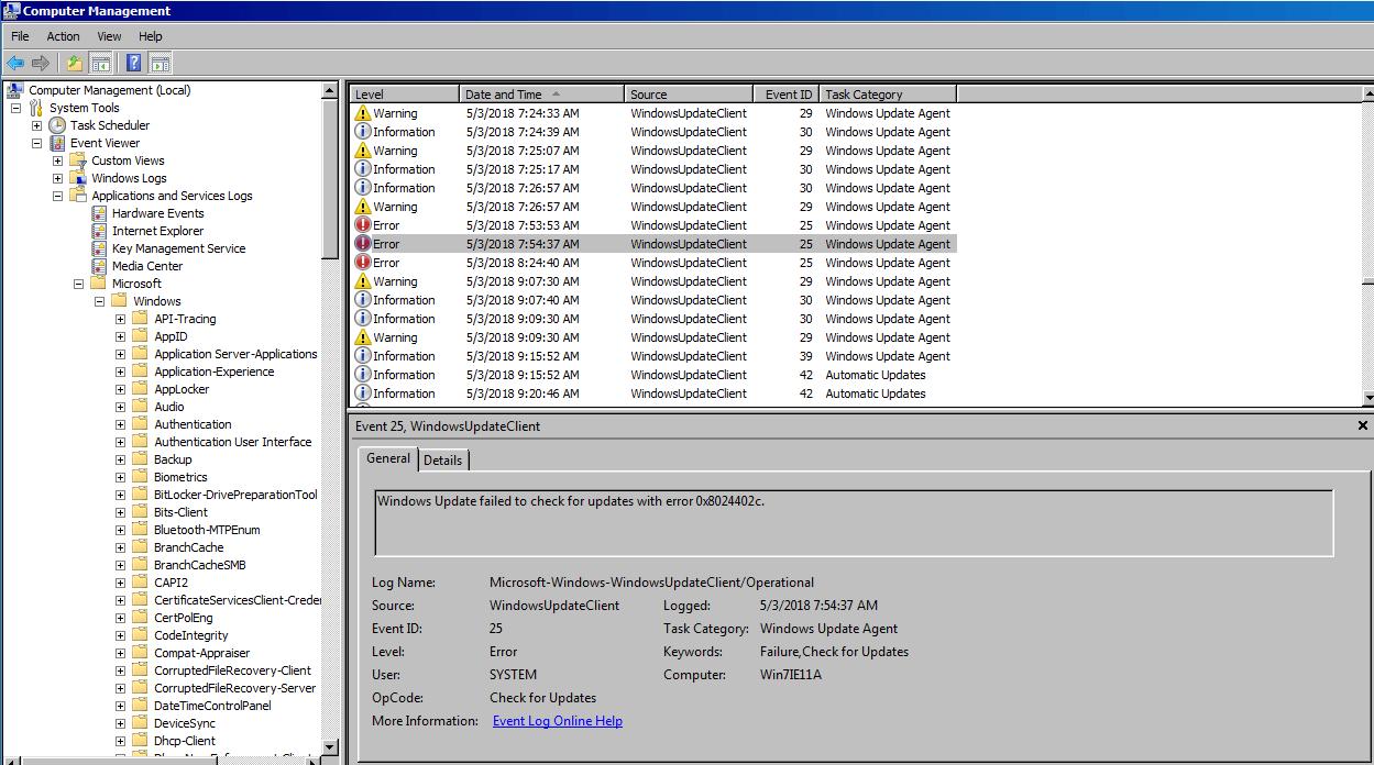 Windows update picture
